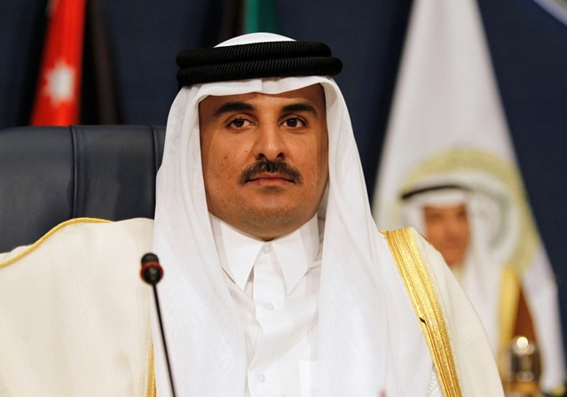 O emir do Qatar, o xeque Tamim bin Hamad al-Thani.